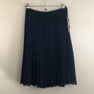 Lauren Ralph Lauren Pleated Silk Skirt NWT